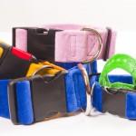 Halsbänder aus Gurtband, bezogen mit Nicki oder Fleece